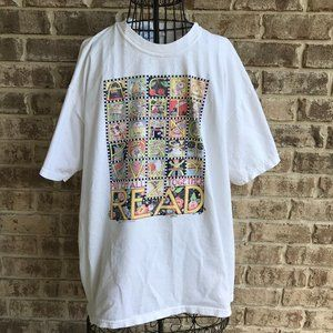 Mary Engelbreit T Shirt Alphabet Read Vintage 90's